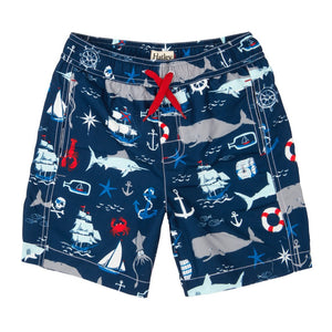 Vintage Nautical Board Shorts