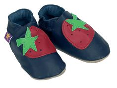 Starchild Strawberry Leather Baby Shoes