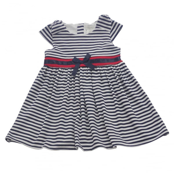 Pitter Patter Navy & White Striped Dress