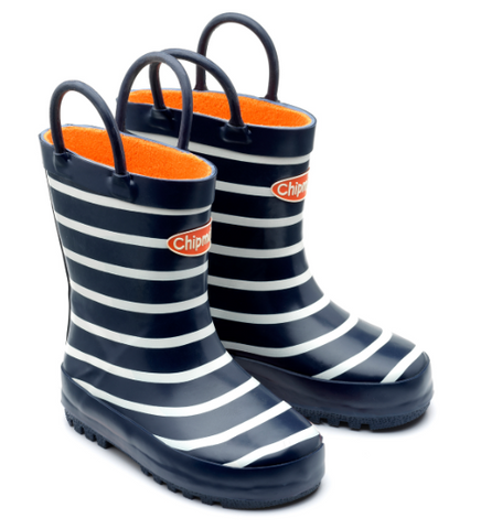 Chipmunks Navy Stripe Children's Wellies
