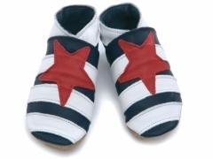 Striped Star Baby Shoes