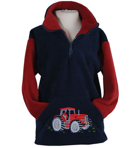 Tractor Pocket Zip Neck Fleece