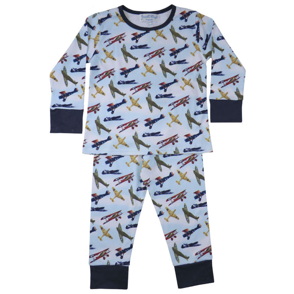 Powell Craft Vintage Aeroplane Pyjamas