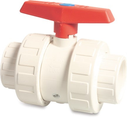 White Double Union Ball Valve Imperial