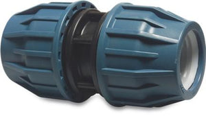 Compression pipe Coupler in PP - Metric