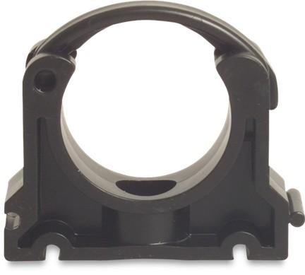Pipe Clamp - Hinged - Imperial Black