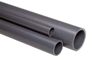 Pipe PVC-U 1m - Grey PVC - Metric