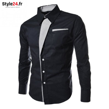 Chemise Hot Fashion Men | Bleu Style24.fr Vêtements Chemises color-blue homme style24-fr under-20 vetements-chemises www.style24.fr