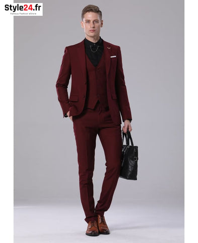 Costume homme tendance - COS001 Bordeaux Yves ENZO Vêtements Costumes over-100 vetements-costumes yves-enzo www.style24.fr