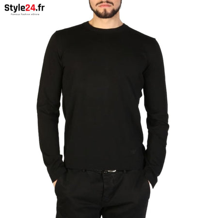 Emporio Armani - 01M66M_0102M Vêtements Pulls black / 46 -45% Brand_Emporio Category_Vêtements Color_Noir Gender_Homme Subcategory_Pulls