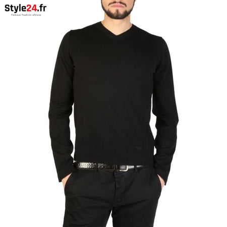 Emporio Armani - 01M67M_0102M Vêtements Pulls black / 46 -45% Brand_Emporio Category_Vêtements Color_Noir Gender_Homme Subcategory_Pulls