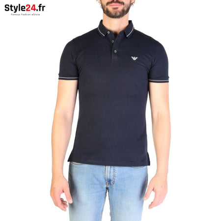 Emporio Armani - 3G1F65 Vêtements Polo blue / S -25% 50-100 Brand_Emporio Category_Vêtements color-blue Color_Bleu www.style24.fr