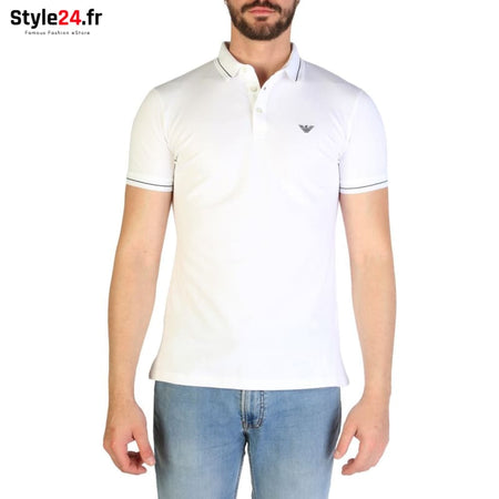 Emporio Armani - 3G1F65 Vêtements Polo white / S -25% 50-100 Brand_Emporio Category_Vêtements color-blanc color-white www.style24.fr