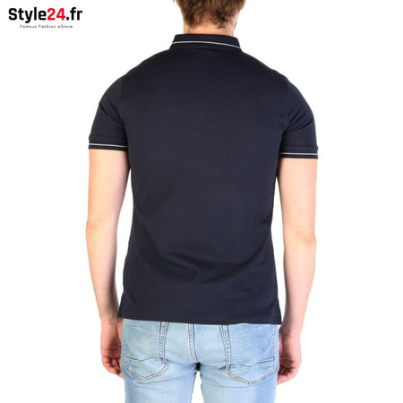Emporio Armani - 3G1F65 Vêtements Polo Brand_Emporio Category_Vêtements Color_Bleu Gender_Homme Subcategory_Polo www.style24.fr