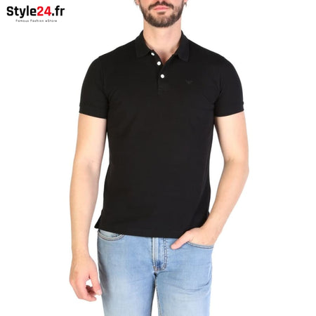 Emporio Armani - 8N1F12 Vêtements Polo black / S -25% 50-100 Brand_Emporio Category_Vêtements color-black color-noir www.style24.fr
