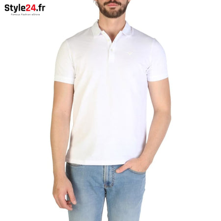 Emporio Armani - 8N1F12 Vêtements Polo white / S -25% 50-100 Brand_Emporio Category_Vêtements color-blanc color-white www.style24.fr