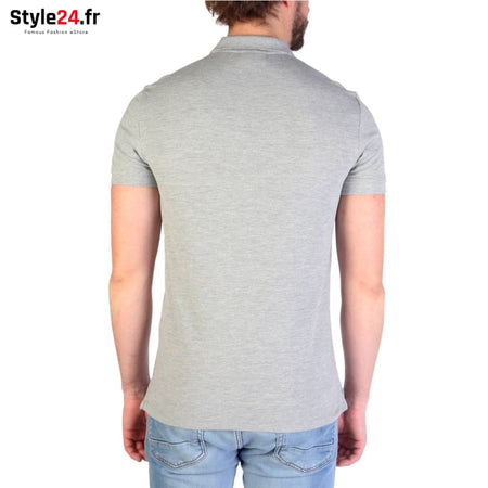 Emporio Armani - 8N1F12 Vêtements Polo Brand_Emporio Category_Vêtements Color_Gris Gender_Homme Subcategory_Polo www.style24.fr