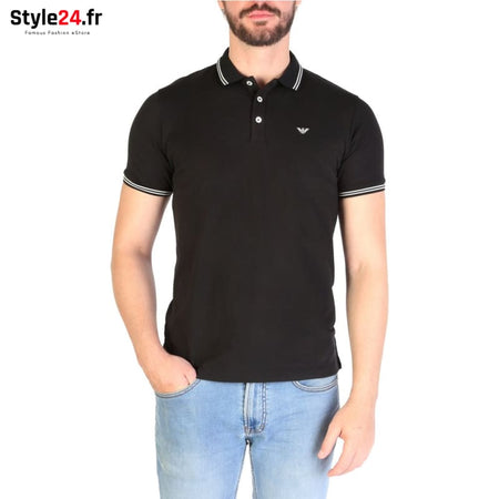 Emporio Armani - 8N1F2B Vêtements Polo black / S -25% 50-100 Brand_Emporio Category_Vêtements color-black color-noir www.style24.fr