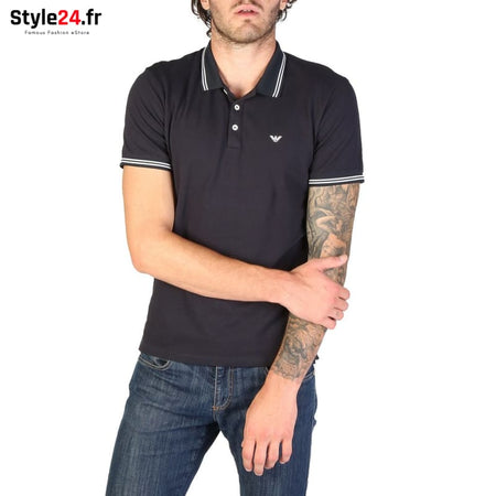 Emporio Armani - 8N1F2B Vêtements Polo blue / S -25% 50-100 Brand_Emporio Category_Vêtements color-blue Color_Bleu www.style24.fr