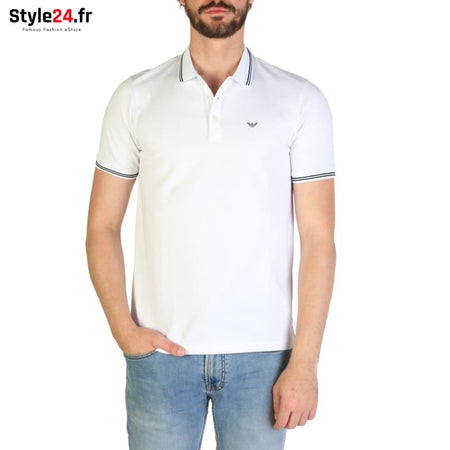 Emporio Armani - 8N1F2B Vêtements Polo white / S -25% 50-100 Brand_Emporio Category_Vêtements color-blanc color-white www.style24.fr