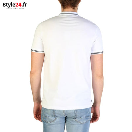 Emporio Armani - 8N1F2B Vêtements Polo Brand_Emporio Category_Vêtements Color_Blanc Gender_Homme Subcategory_Polo www.style24.fr