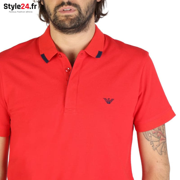 Emporio Armani - 9P461 Vêtements Polo Brand_Emporio Category_Vêtements Color_Rouge Gender_Homme Subcategory_Polo www.style24.fr