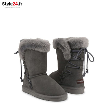 Laura Biagiotti - 5898-19 Chaussures Bottines Brand_Laura Category_Chaussures Color_Gris Gender_Femme Subcategory_Bottines www.style24.fr