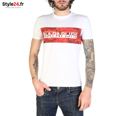 Napapijri - SALKA_N0YIHB Vêtements T-shirts white / XL -20% Brand_Napapijri Category_Vêtements Color_Blanc Gender_Homme