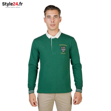Oxford University - MAGDALEN-POLO-ML Vêtements Polo green / S -75% Brand_Oxford Category_Vêtements Color_Vert Gender_Homme
