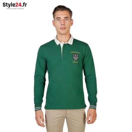 Oxford University - MAGDALEN-POLO-ML Vêtements Polo Brand_Oxford Category_Vêtements Color_Vert Gender_Homme Subcategory_Polo