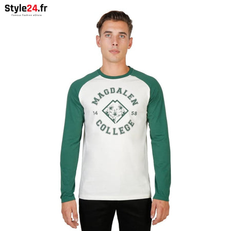 Oxford University - MAGDALEN-RAGLAN-ML Vêtements T-shirts green / S -65% Brand_Oxford Category_Vêtements color-green Color_Vert