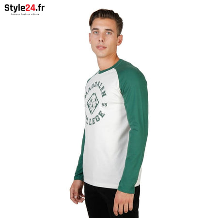 Oxford University - MAGDALEN-RAGLAN-ML Vêtements T-shirts Brand_Oxford Category_Vêtements Color_Vert Gender_Homme Subcategory_T-shirts