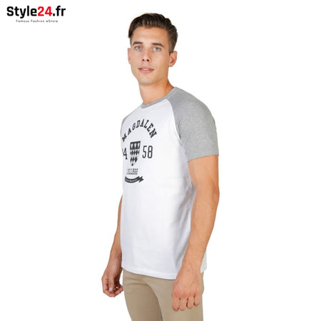 Oxford University - MAGDALEN-RAGLAN-MM Vêtements T-shirts Brand_Oxford Category_Vêtements Color_Gris Gender_Homme Subcategory_T-shirts