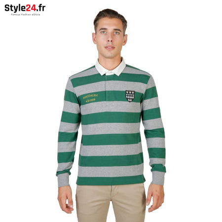 Oxford University - MAGDALEN-RUGBY-ML Vêtements Polo green / S -75% Brand_Oxford Category_Vêtements Color_Vert Gender_Homme