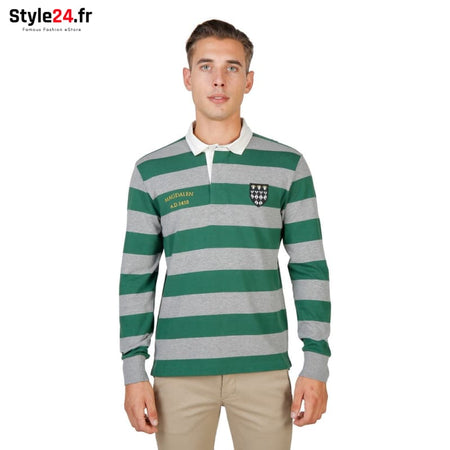 Oxford University - MAGDALEN-RUGBY-ML Vêtements Polo Brand_Oxford Category_Vêtements Color_Vert Gender_Homme Subcategory_Polo