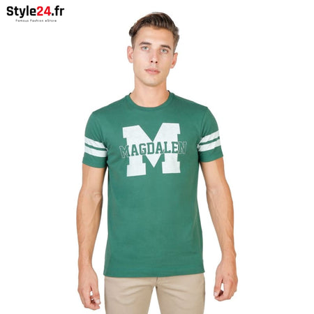 Oxford University - MAGDALEN-STRIPED-MM Vêtements T-shirts green / S -75% Brand_Oxford Category_Vêtements color-green Color_Vert