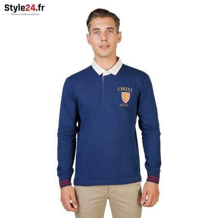 Oxford University - ORIEL-POLO-ML Vêtements Polo blue / S -75% Brand_Oxford Category_Vêtements Color_Bleu Gender_Homme Subcategory_Polo