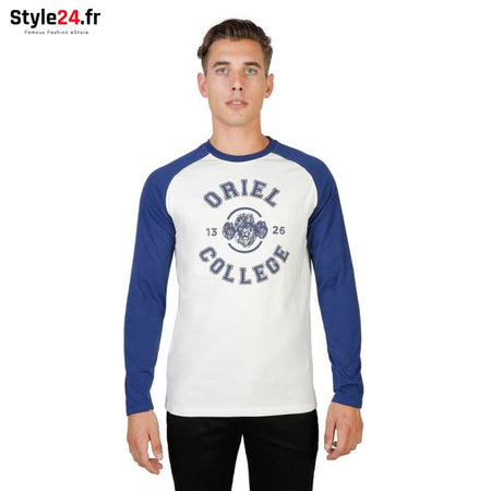 Oxford University - ORIEL-RAGLAN-ML Vêtements T-shirts blue / S -65% Brand_Oxford Category_Vêtements color-blue Color_Bleu Gender_Homme