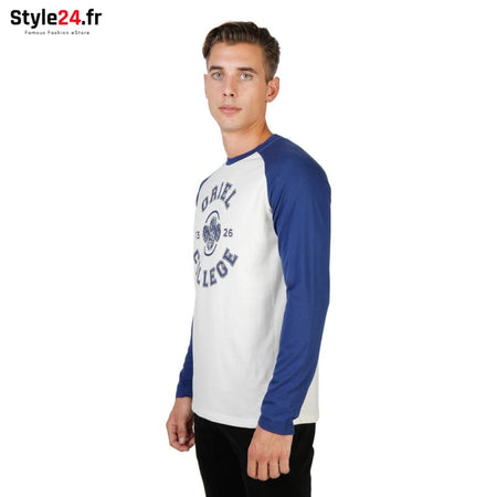 Oxford University - ORIEL-RAGLAN-ML Vêtements T-shirts Brand_Oxford Category_Vêtements Color_Bleu Gender_Homme Subcategory_T-shirts