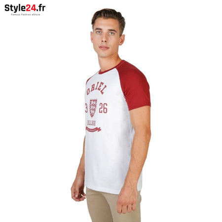 Oxford University - ORIEL-RAGLAN-MM Vêtements T-shirts Brand_Oxford Category_Vêtements Color_Rouge Gender_Homme Subcategory_T-shirts