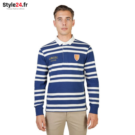 Oxford University - ORIEL-RUGBY-ML Vêtements Polo blue / S -75% Brand_Oxford Category_Vêtements Color_Bleu Gender_Homme Subcategory_Polo