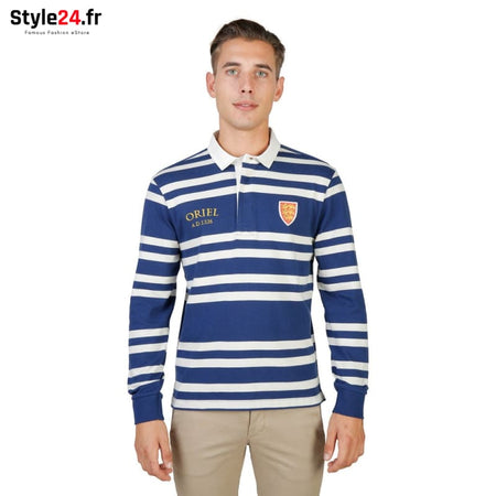 Oxford University - ORIEL-RUGBY-ML Vêtements Polo Brand_Oxford Category_Vêtements Color_Bleu Gender_Homme Subcategory_Polo www.style24.fr