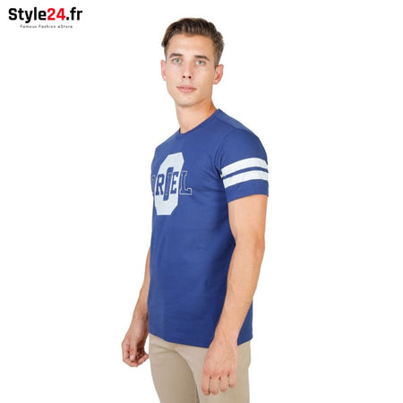 Oxford University - ORIEL-STRIPED-MM Vêtements T-shirts Brand_Oxford Category_Vêtements Color_Bleu Gender_Homme Subcategory_T-shirts
