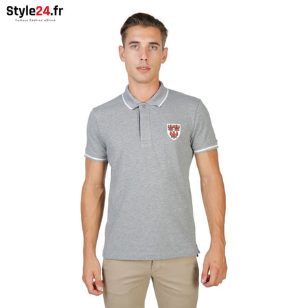 Oxford University - QUEENS-POLO-MM Vêtements Polo grey / M -60% Brand_Oxford Category_Vêtements color-grey color-gris Color_Gris