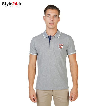 Oxford University - QUEENS-POLO-MM Vêtements Polo Brand_Oxford Category_Vêtements Color_Gris Gender_Homme Subcategory_Polo www.style24.fr