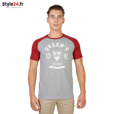 Oxford University - QUEENS-RAGLAN-MM Vêtements T-shirts red / M -70% Brand_Oxford Category_Vêtements color-red color-rouge Color_Rouge