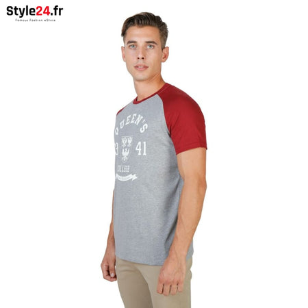 Oxford University - QUEENS-RAGLAN-MM Vêtements T-shirts Brand_Oxford Category_Vêtements Color_Rouge Gender_Homme Subcategory_T-shirts
