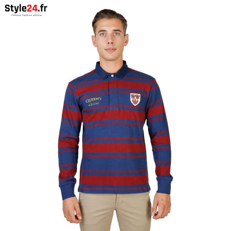 Oxford University - QUEENS-RUGBY-ML Vêtements Polo red / S -75% Brand_Oxford Category_Vêtements Color_Rouge Gender_Homme Subcategory_Polo