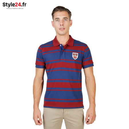 Oxford University - QUEENS-RUGBY-MM Vêtements Polo Brand_Oxford Category_Vêtements Color_Rouge Gender_Homme Subcategory_Polo