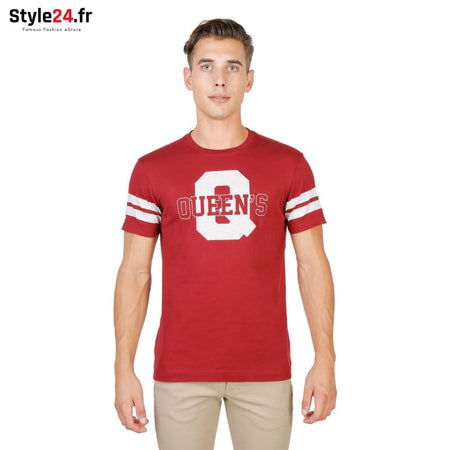 Oxford University - QUEENS-STRIPED-MM Vêtements T-shirts red / M -75% Brand_Oxford Category_Vêtements color-red color-rouge Color_Rouge